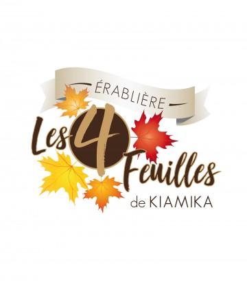 Création du logo Érablière Les 4 Feuilles de Kiamika