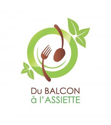 Création du logo Du balcon à l'assiette