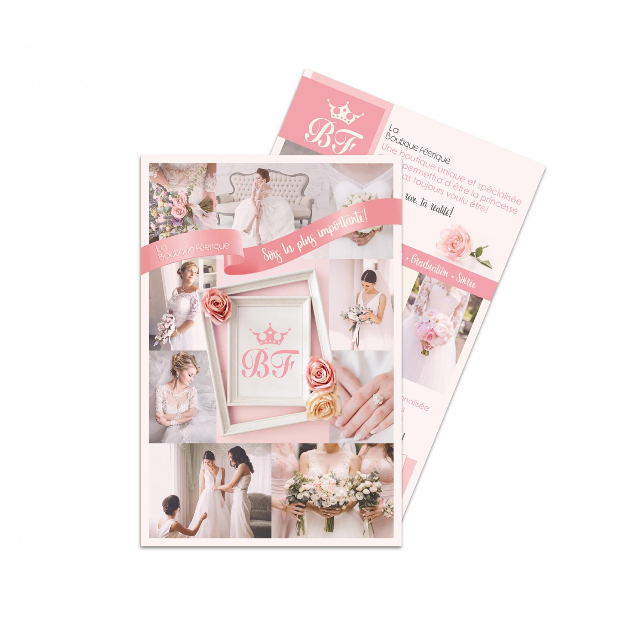 Création du carton promo Boutique Féérique