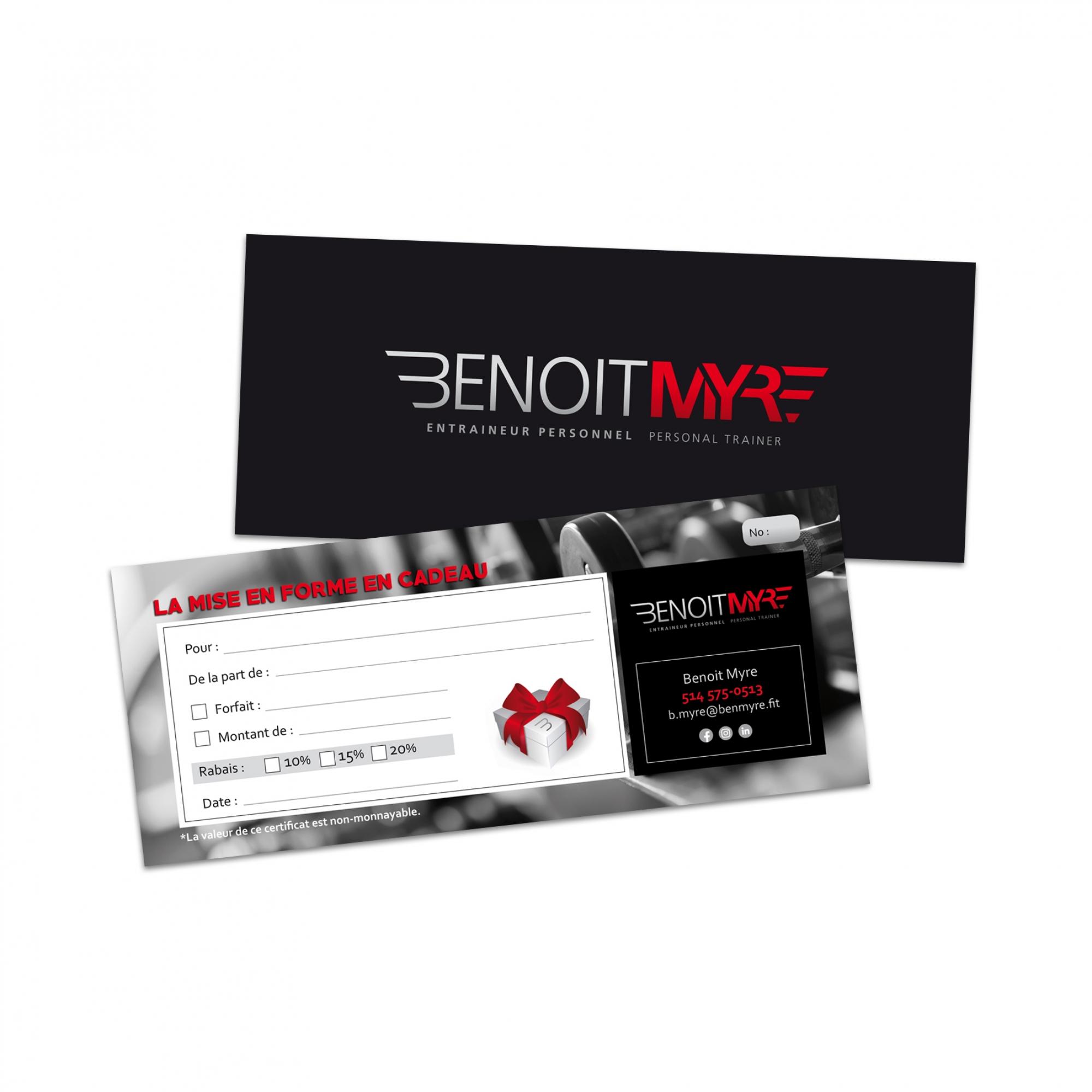 Carte d'affaires Benoit Myre